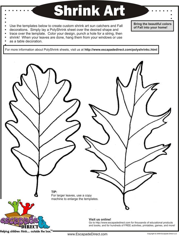 free leaf template pdf 1323kb 4 page s