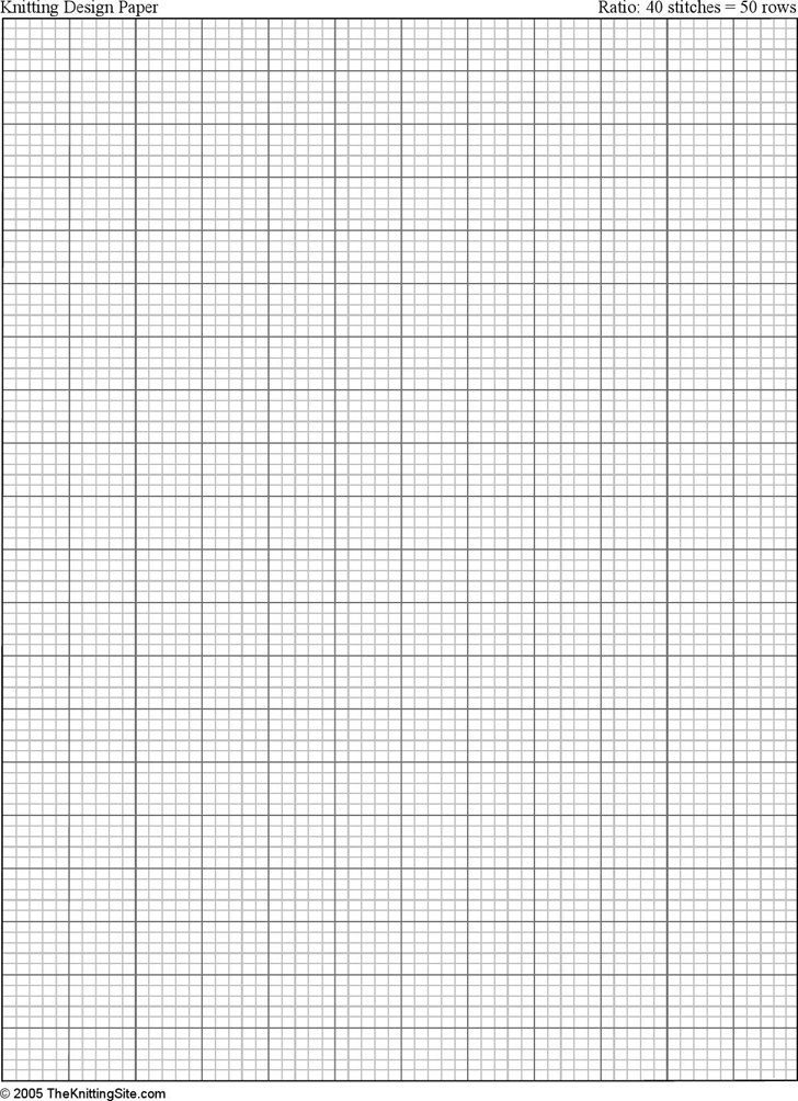 Knitting Graph Paper Template Free Download – Graph Sheet Download