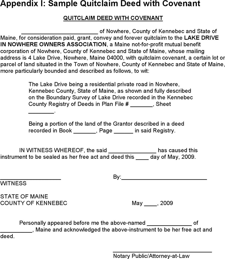 Free Maine Quitclaim Deed Sample - PDF | 48KB | 1 Page(s)