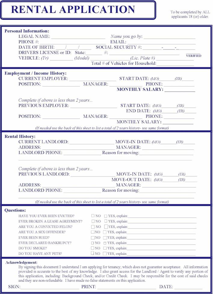 Free Maine Rental Application Form Pdf 1788kb 1 Pages
