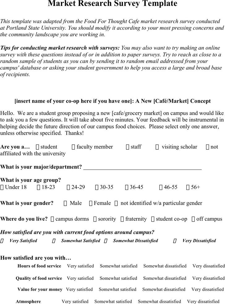 access survey template