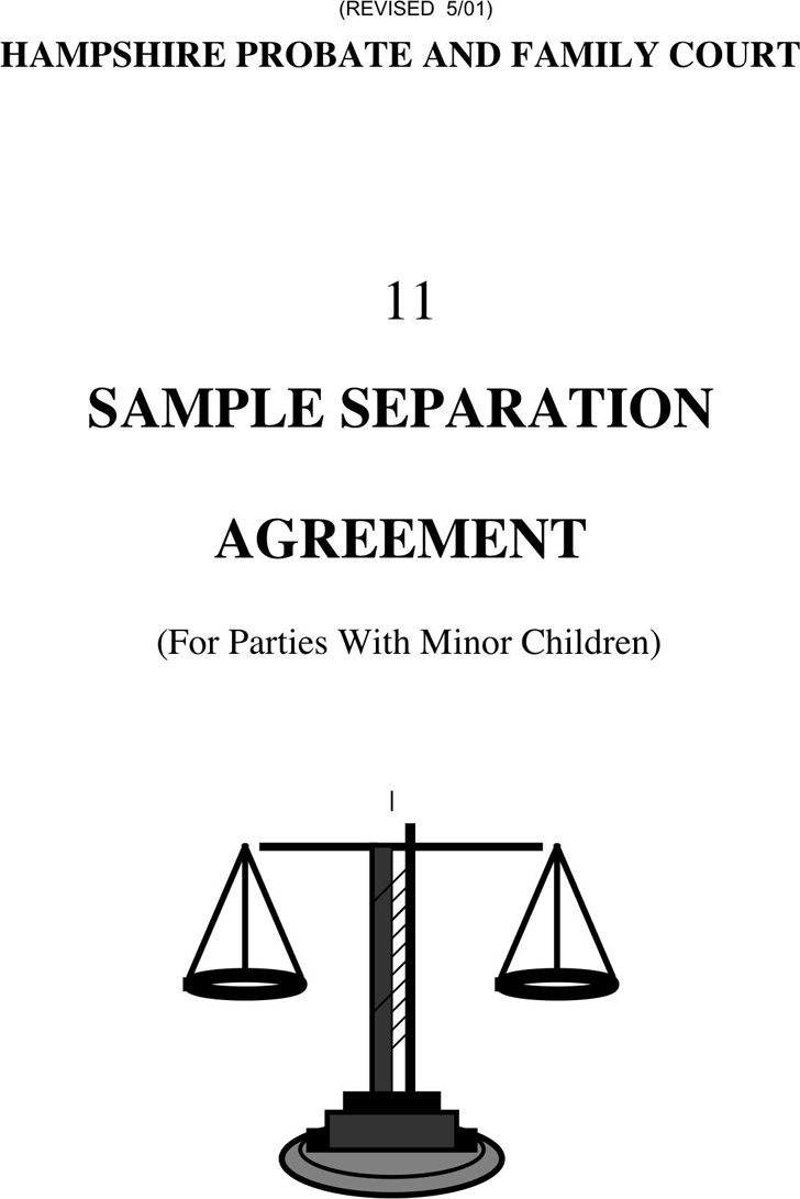 Free Massachusetts Separation Agreement Template Pdf 145kb 16