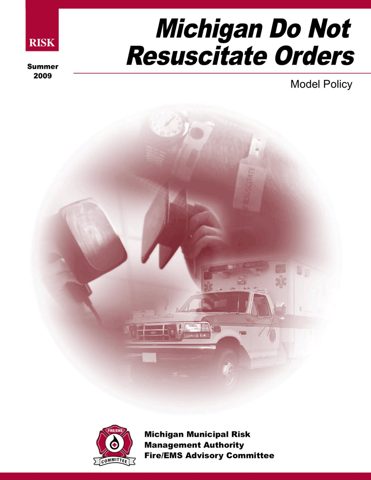 Michigan Do Not Resuscitate Form 2