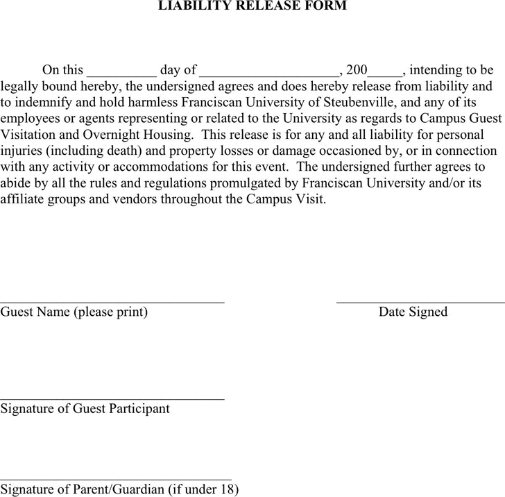 liability waiver template