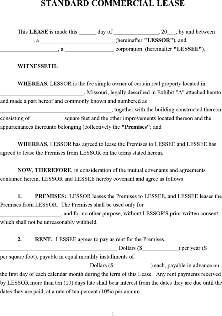 western australia commercial property lease agreement contract – Simple Commercial Lease Agreement Template