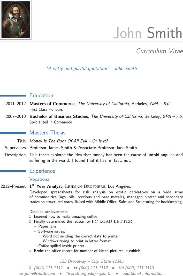 modern cv template 1