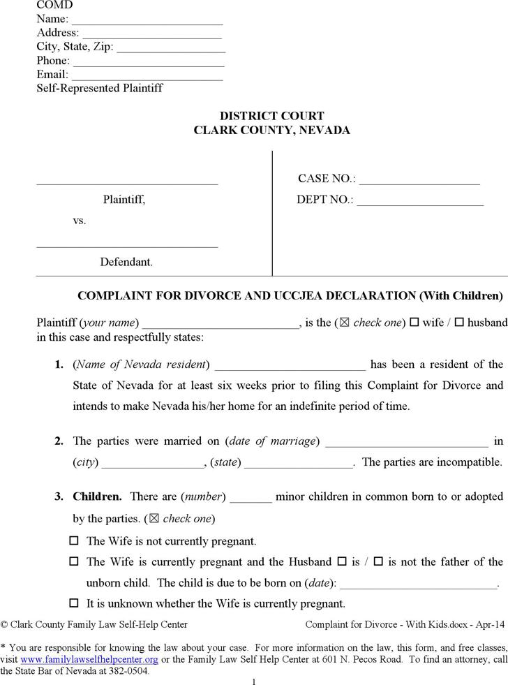 Divorce Paper Template Free Legal Form Divorce Agreement – Free Printable Fake Divorce Papers