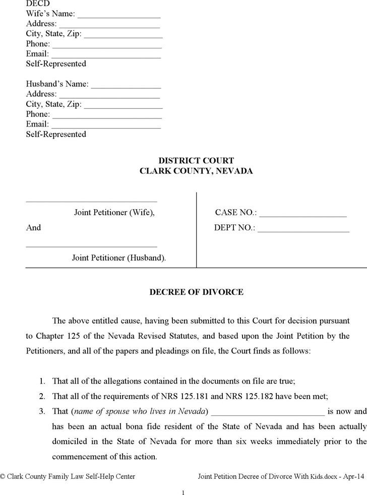 Help with filing divorce papers las vegas