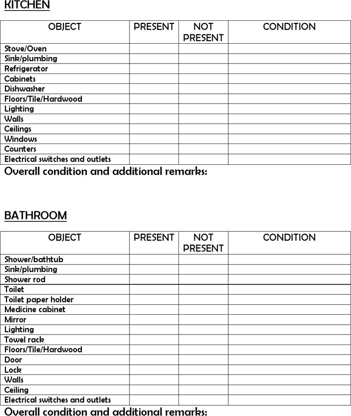 Free New Apartment Checklist - PDF | 101KB | 5 Page(s) | Page 3