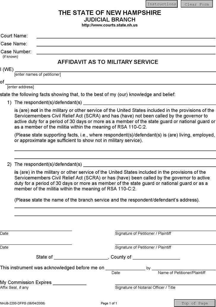 Doc407527 Free Affidavit Form Download free affidavit form – Free Affidavit Form Template