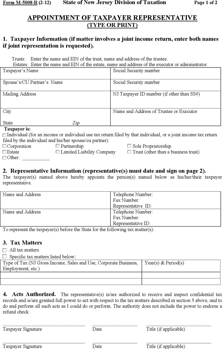 Power of attorney template free template downloadcustomize and new jersey tax power of attorney form falaconquin