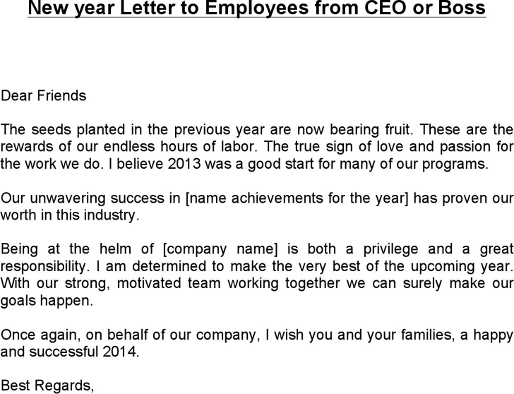 the new year letter to employees from ceo or can help free new year letter to employees from ceo or docx 934