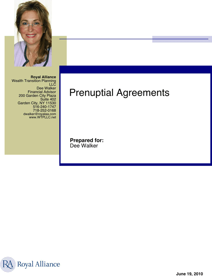Free New York Prenuptial Agreement Sample Pdf 279kb 8 Pages