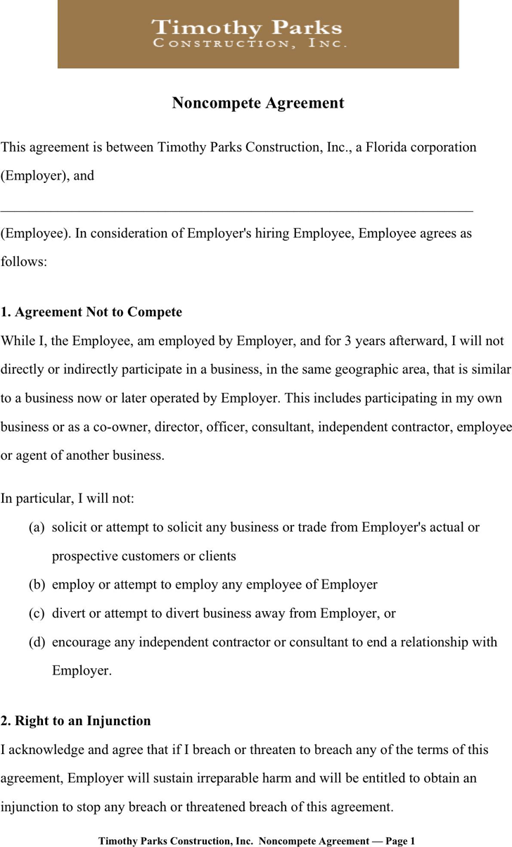 Non Compete Agreement Sample Template Free Download Speedy Non Compete Agreement  Sample 1 1 Non Compete Agreement Sampleasp Partnership Agreement Template  ...  Partnership Agreement Free Template