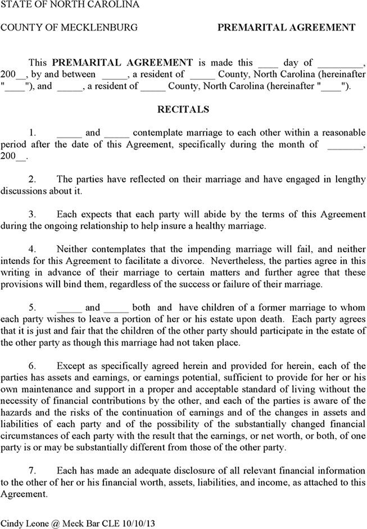 Prenuptial Agreement Sample Template Free Download Speedy Template