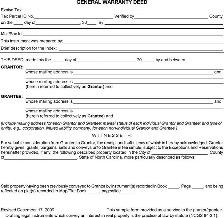 General Warranty Deed | Warranty Deed Template Free Template Download Customize And Print