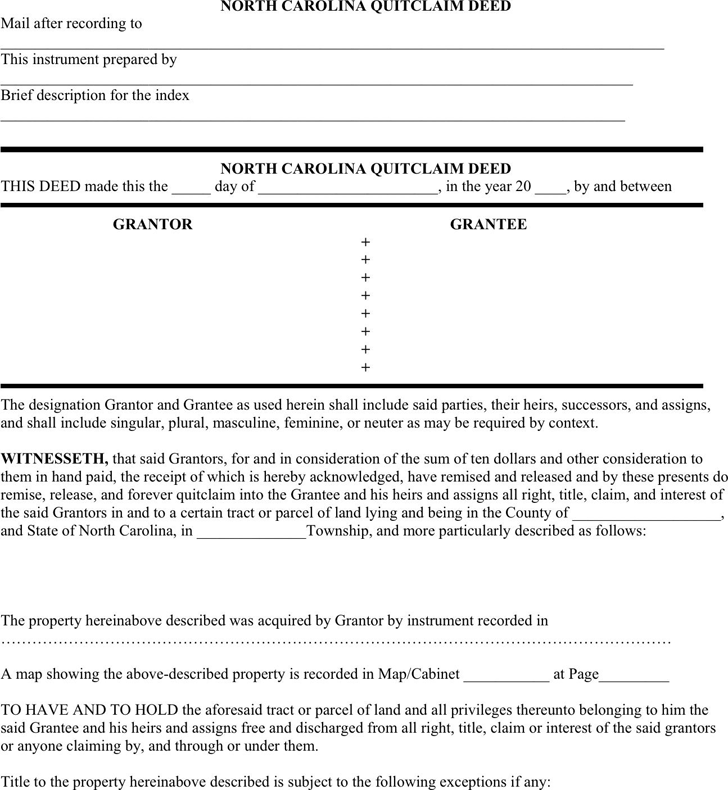 Quick Deed Form | Quitclaim Deed Template Free Template Download Customize And Print