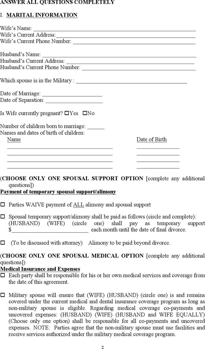 Free North Carolina Separation Agreement Template Doc 79kb 7
