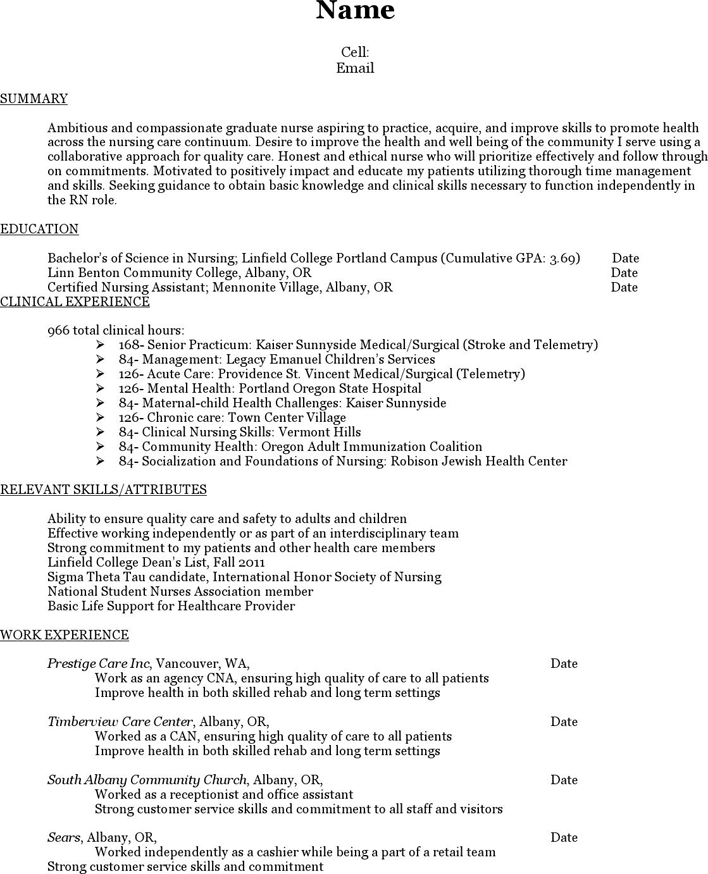 Free Nursing Resume Cover Letter Packet Pdf 967kb 33 Page S Page 6