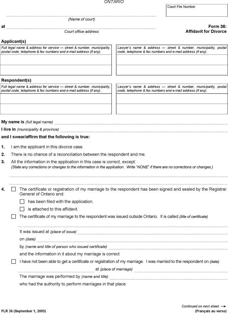 Affidavit template free template downloadcustomize and print ontario affidavit for divorce form maxwellsz
