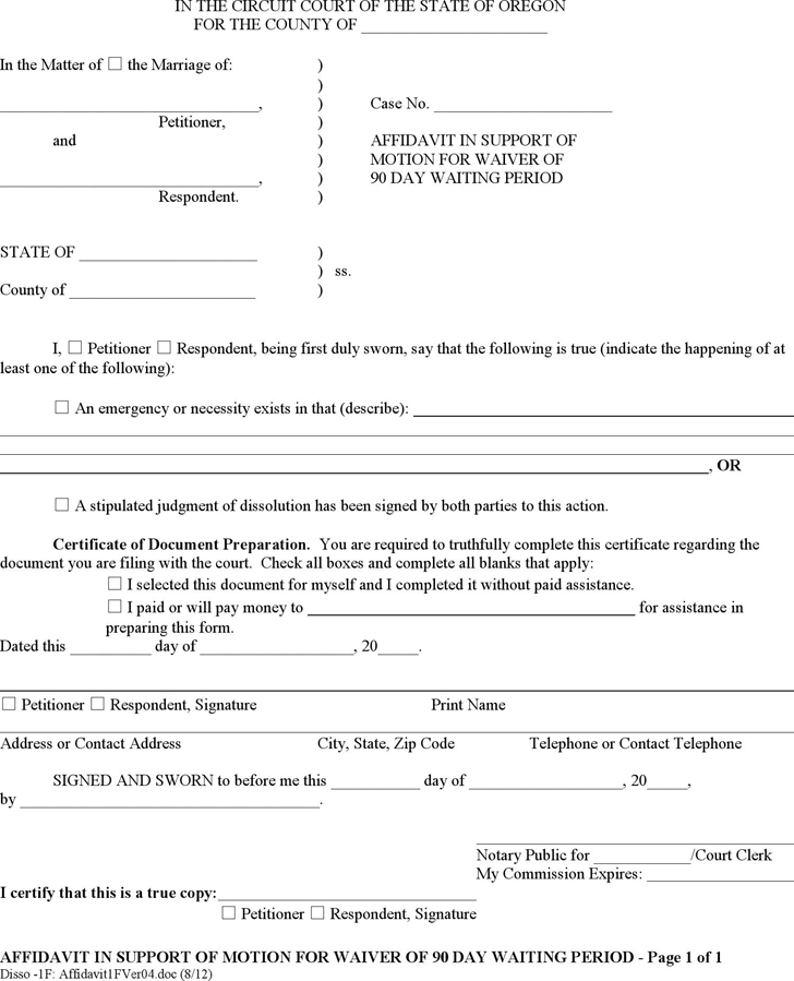Affidavit Template - Free Template Download,Customize and Print