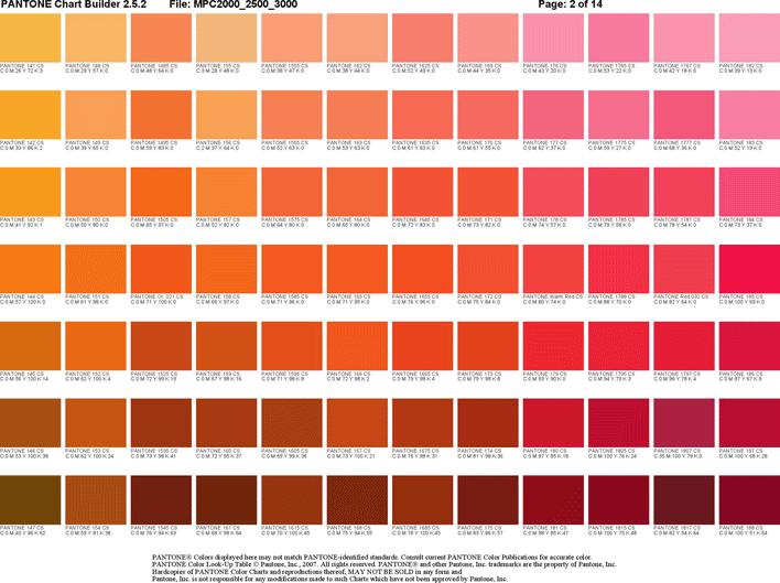 Free Pantone Color Chart Pdf 68kb 14 Pages Page 2