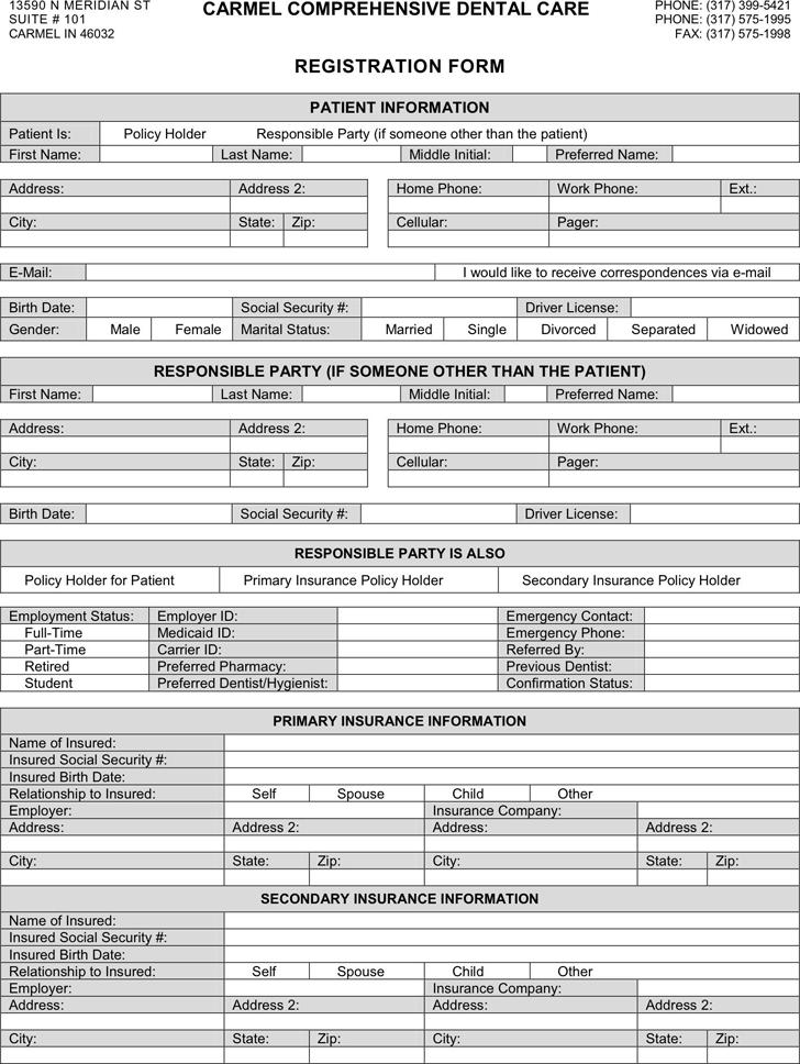 Patient registration template free template downloadcustomize and patient registration form 3 altavistaventures Gallery