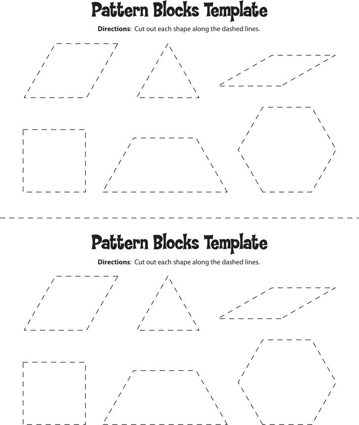 Free Pattern Block Template Pdf 499kb 1 Page S