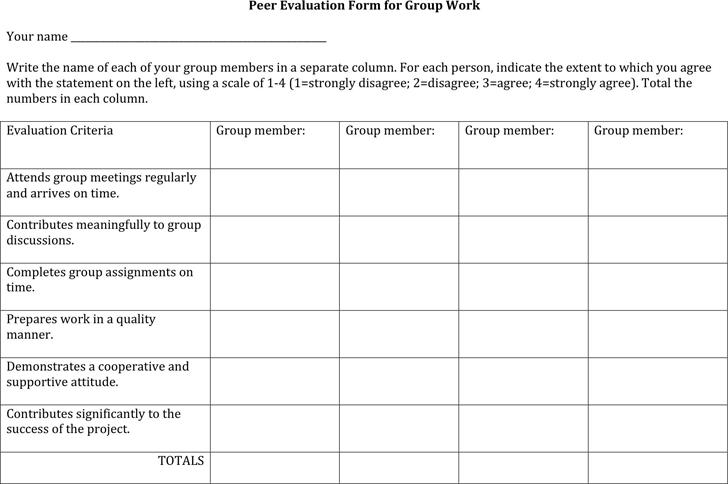 peer evaluation 2 - Peer Evaluation Form