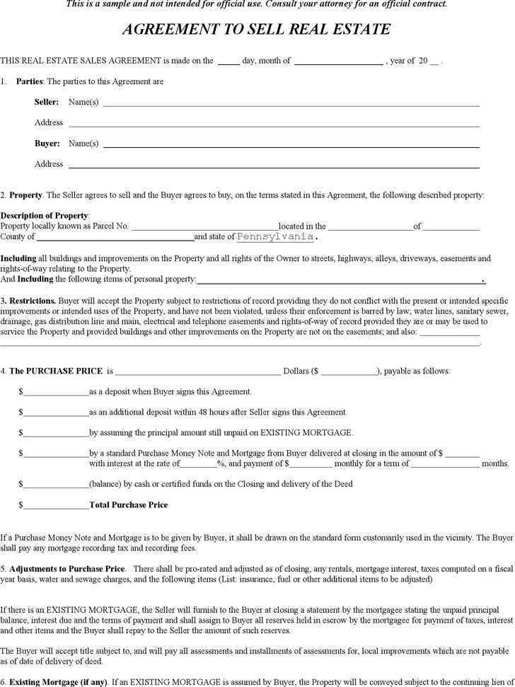 Home Purchase Agreement Form Free Minnesota Real Estate Purchase – Home Purchase Agreement Form Free