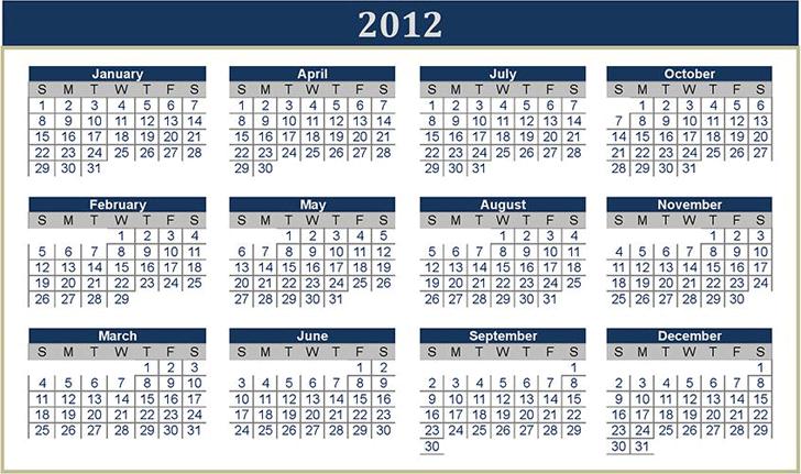 Perpetual Calendar Template 2
