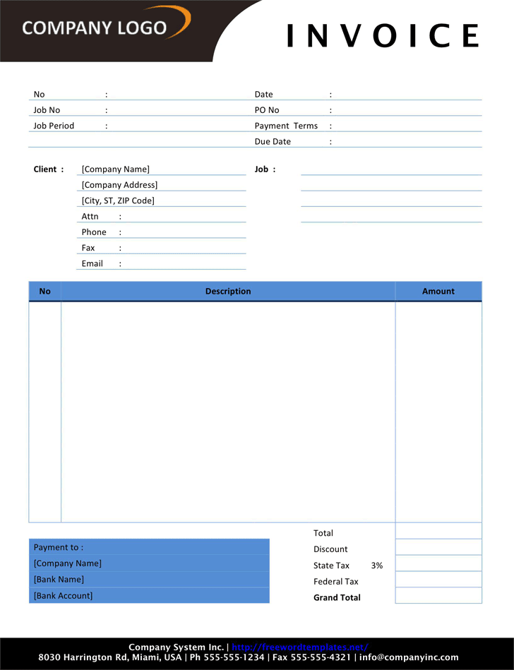 Free Photography Invoice Doc 95kb 1 Page S