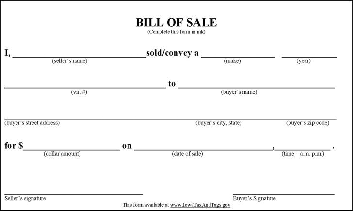 free polk county iowa vehicle bill of sale pdf 31kb 1 page s