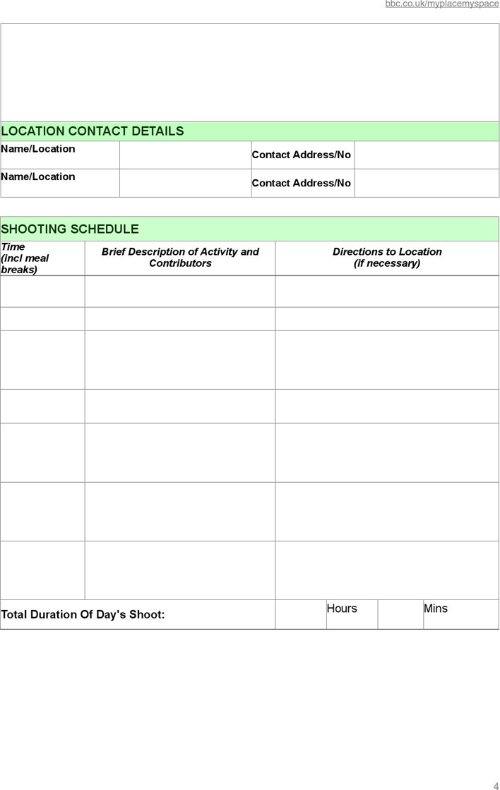Free Production Schedule Template Pdf 162kb 4 Pages Page 4