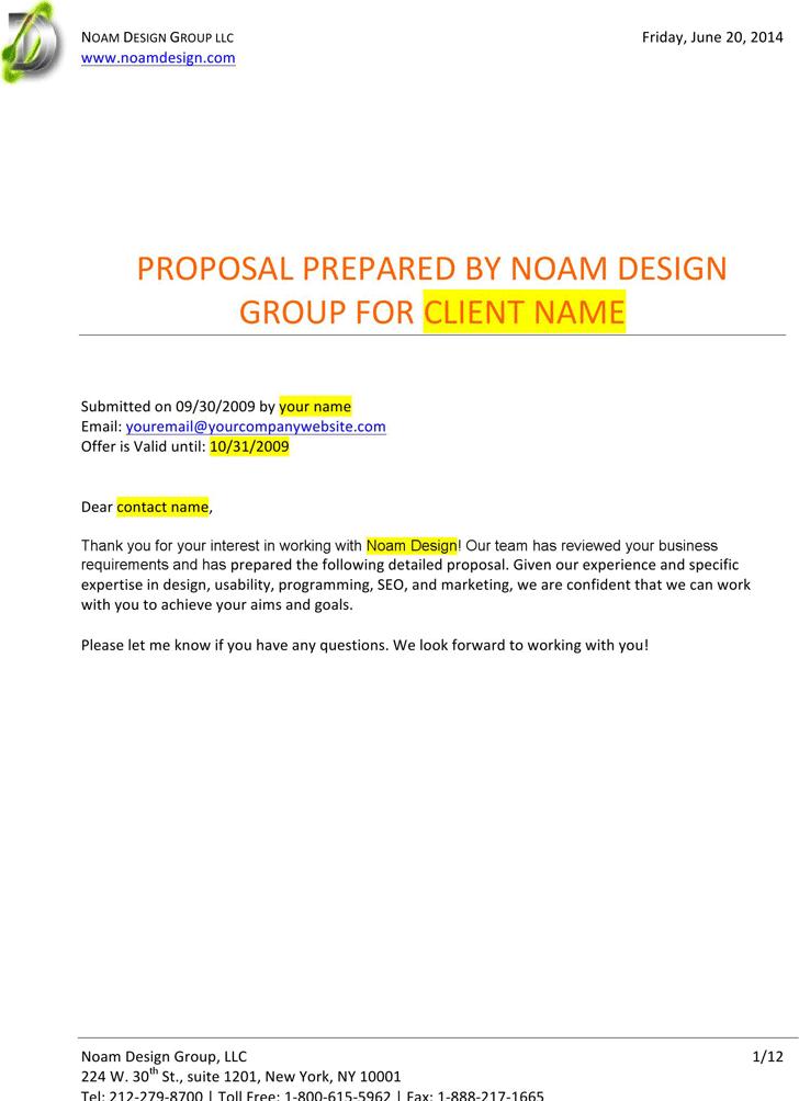 Free Professional Web Design Proposal Template Docx 73kb 12