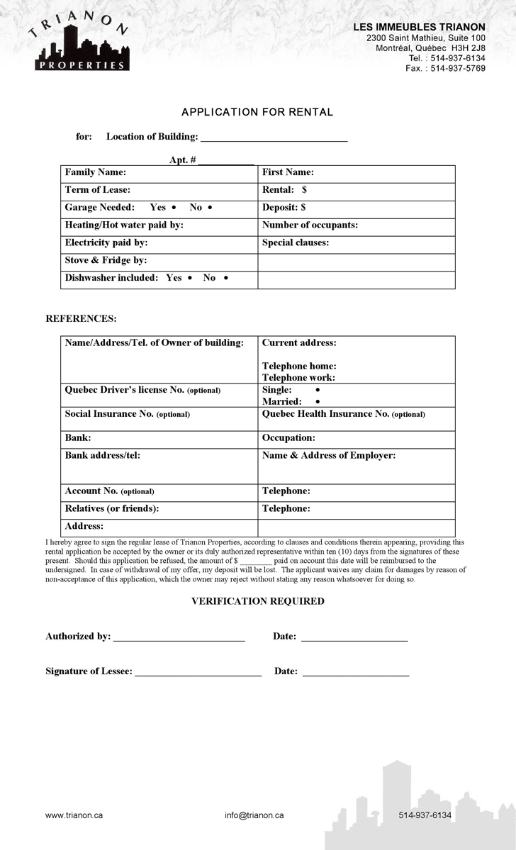 Rent And Lease Template Template Free Download Speedy Template
