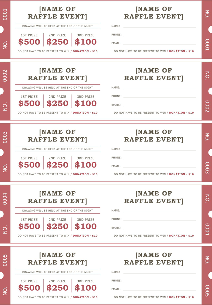 Raffle Ticket Template Free from www.speedytemplate.com