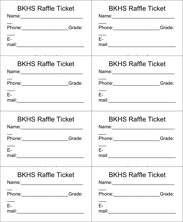 Free raffle ticket template doc 37kb 1 page s for Entry tickets template