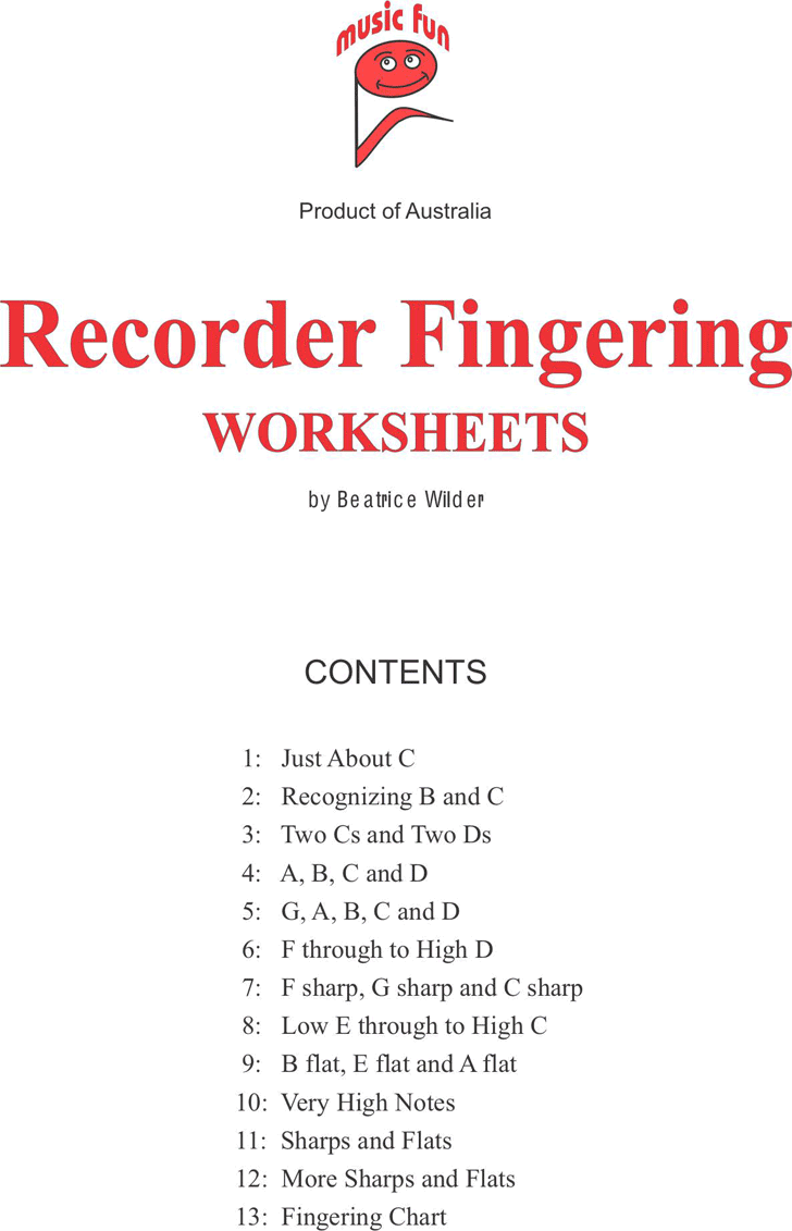 Recorder Finger Chart - Template Free Download | Speedy Template