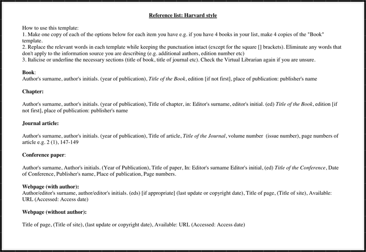 refernce list