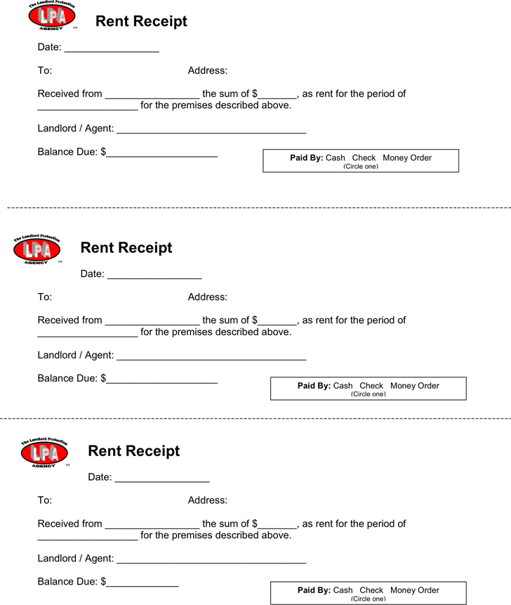 Rent Receipt Template Template Free Download Speedy Template