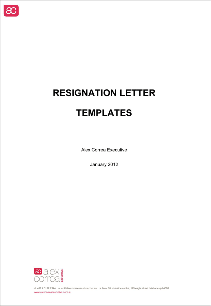 Word Resignation Letter Template from www.speedytemplate.com