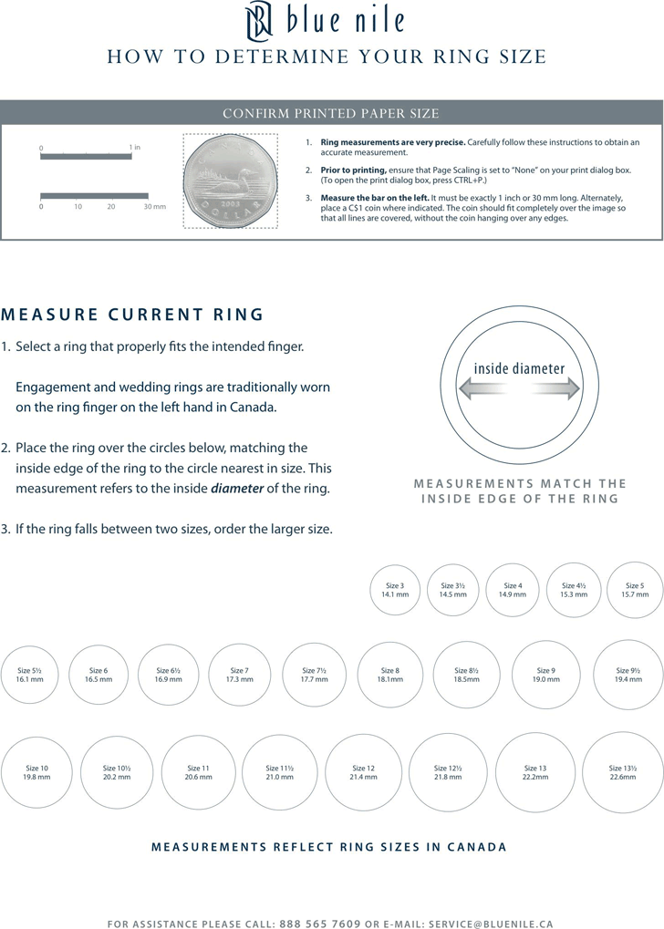 Ring Size Chart Template Free Download Speedy Template