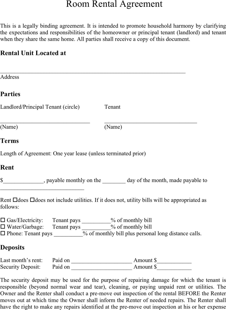 Room Rental Agreement Template Free Download – Booth Rental Agreement Template