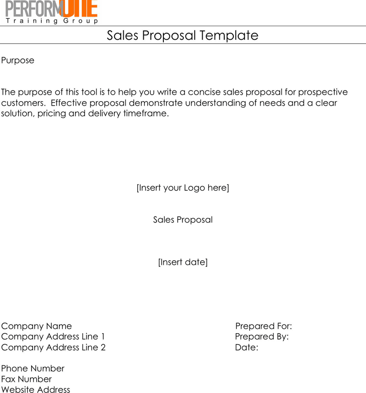 Sales Proposal Template - Template Free Download