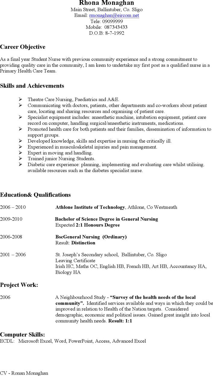 Nursing Curriculum Vitae