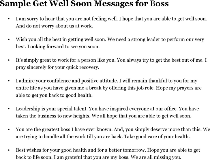 How To Write Get Well Soon Letter To Boss