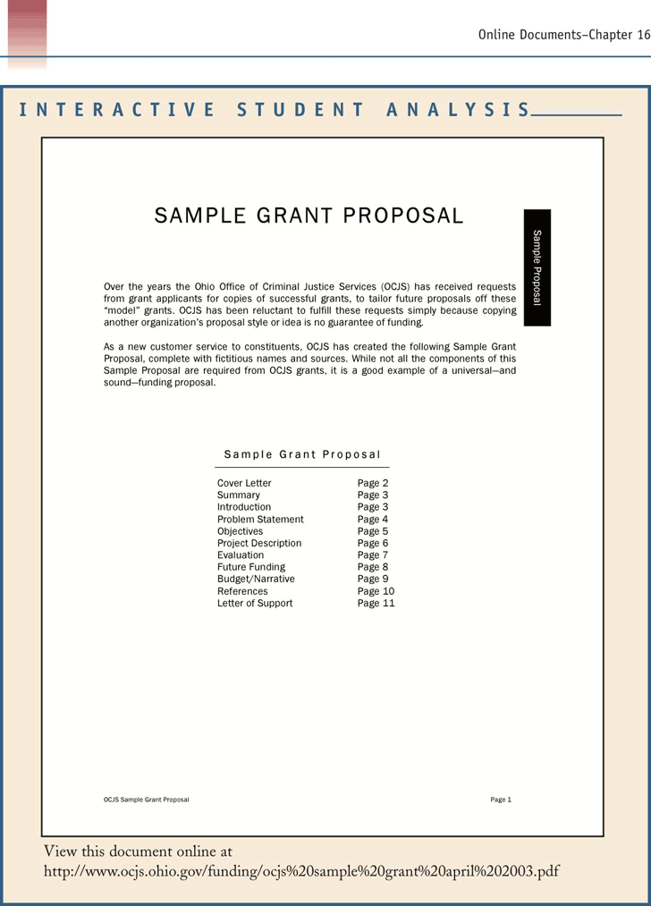 Free Sample Grant Proposal Pdf 350kb 9 Pages