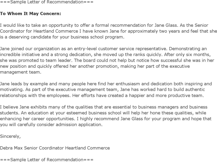 Sample Recommendation Letter For Promotion from www.speedytemplate.com