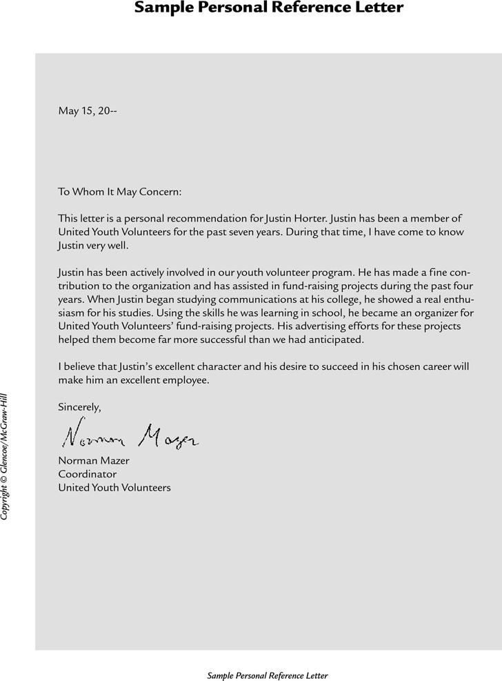 Personal Reference Letter Template from www.speedytemplate.com